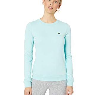 Lacoste Women's Long Sleeve Fleece Crewneck Sweatshirt