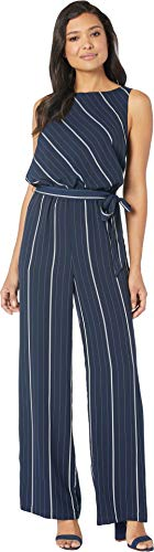 Vince Camuto Womens Sleeveless Striped Sportswear Belted