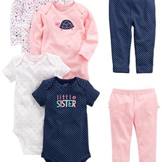 Simple Joys by Carter's Baby Girls' 6-Piece Little Character Set