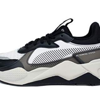 PUMA Men's RS-X Sneaker Black-Vaporous Gray White, 8 M US