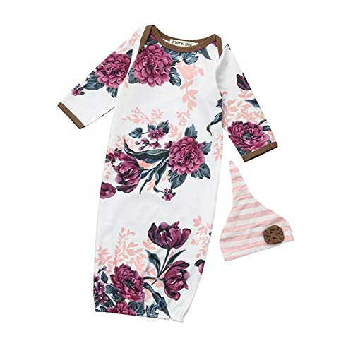 Sleep Sack 2 Pcs Set Newborn Floral Print Pajamas Infant Girls Boys