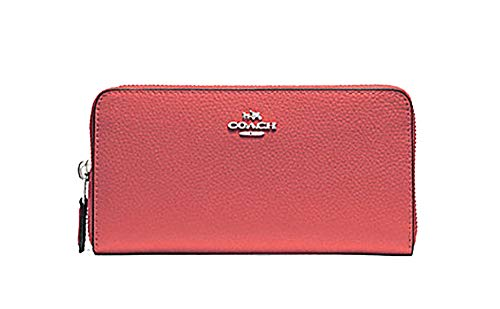 Coach Pebbled Leather Accordian Zip Wallet