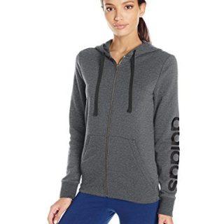 adidas Women's Essentials Linear Full Zip Fleece Hoodie