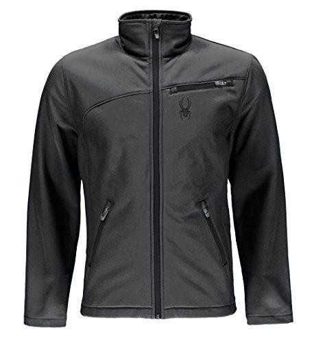 Spyder Men's Softshell Jacket, Polar/Black, X-Large
