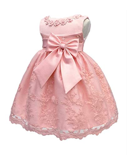 H.X Baby Girl's Newborn Bowknot Gauze Christening Baptism Dress