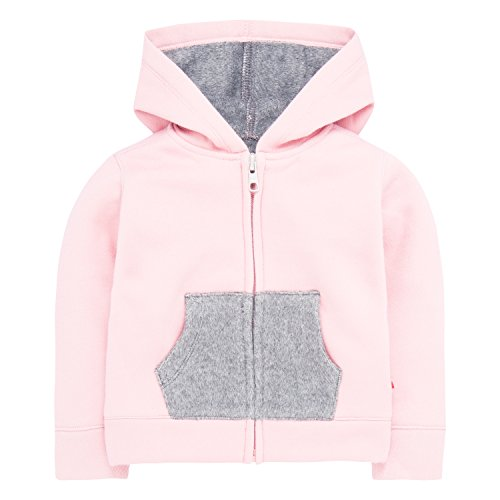 Levi's Baby Girls' Hoodie with Plush Lining, Blush 24M