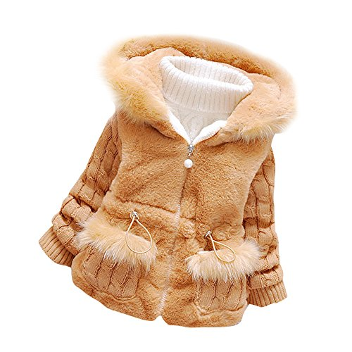 Baby Girls Infant Toddler Winter Knited Outerwear Coats Snowsuit Jackets