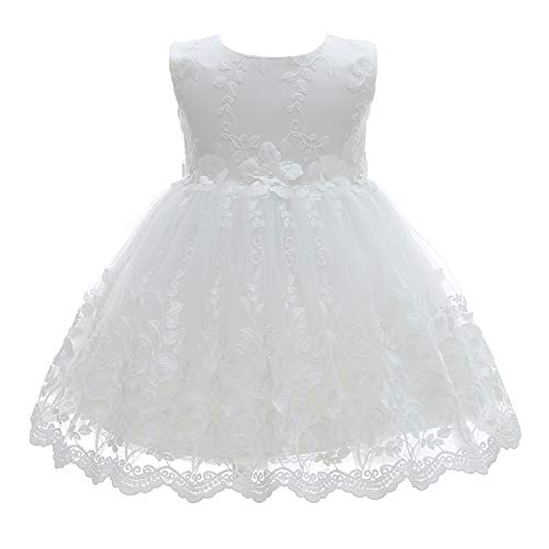 Silver Mermaid Baby Girl Christening Dress 2 Piece Floral Lace