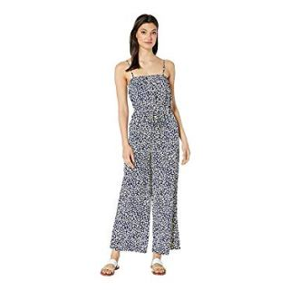 J.O.A. Women's Navy Animal Jumpsuit, Navy Animal