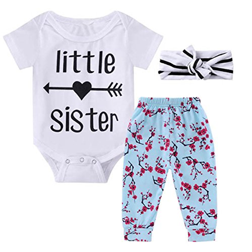 0-18M Infant Newborn Baby Girl Arrow Romper + Long Pants
