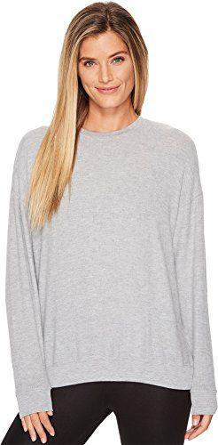 ALO Women's Soho Pullover Dove Grey Heather Small