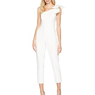 Adrianna Papell Women's One Shoulder Crepe Jumpsuit