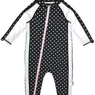 SwimZip Little Girl Long Sleeve Sunsuit Romper Swimsuit