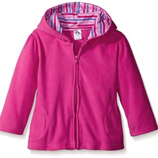 Gerber Baby Girls' Hooded Micro Fleece Jacket