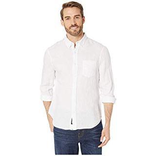 Reyn Spooner Men's Linen Long Sleeve Shirt, White, X-Large