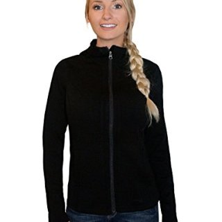 Woolx Women's Zoey Full Zip Heavyweight Warmth Merino Wool Hoodie