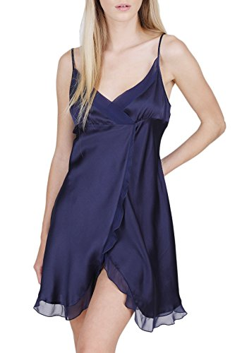 OSCAR ROSSA Women's Luxury Silk Sleepwear Babydoll Lingerie Nightgown