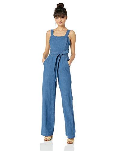 Ella Moss Women's Denim Belted Jumpsuit, Magnolia