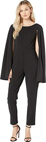 Adrianna Papell Women's Knit Crepe Cape Jumpsuit