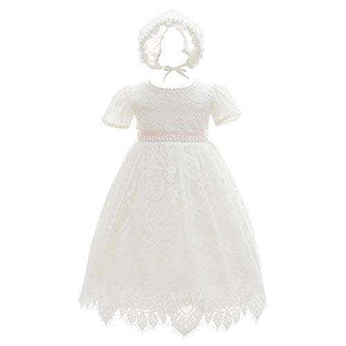 Meiqiduo Baby Girls Lace Dress Christening Baptism Gowns Outfit