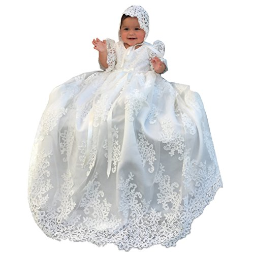 Lovely Lace Girls Christening Gowns Dresses 7-9 Months