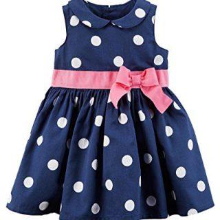 Carter's Baby Girls' Polka Dot Sateen Dress 3 Months