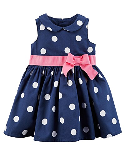 Carter's Baby Girls' Polka Dot Sateen Dress 3 Months