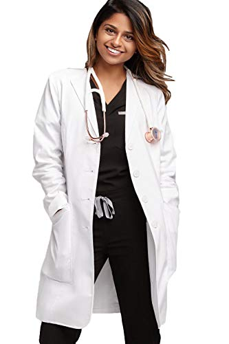 FIGS Women's Aurora Premium Lab Coat, White M