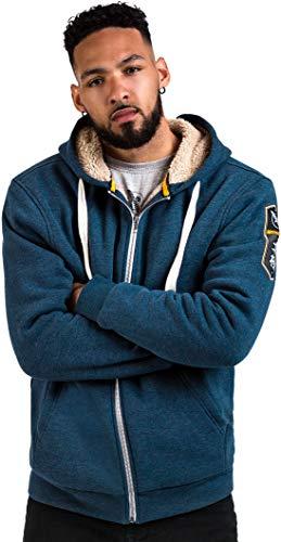 Hayabusa Mens Hoodie Heavyweight Arctic Zip Up Large Blue