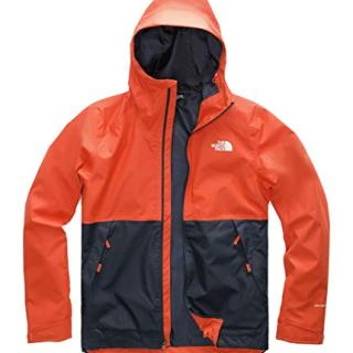 The North Face Men's Millerton Jacket Zion Orange/Urban Navy Large