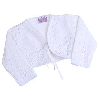 BabyPrem Baby Cardigan Bolero Girls Clothes White Pink Knitted