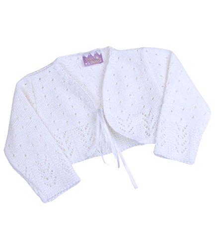 BabyPrem Baby Cardigan Bolero Girls Clothes White Pink Knitted