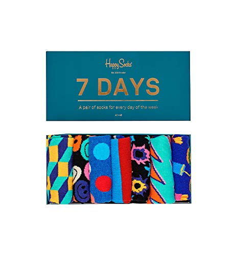 Happy Socks Unisex 7 Days Of The Week Gift Box Set