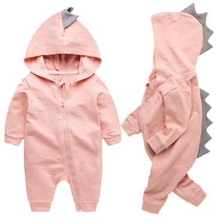 Newborn Baby Boys Girls Cartoon Dinosaur Hoodie Romper