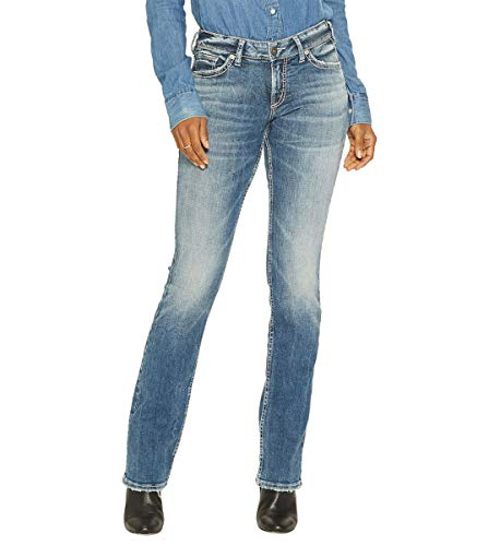 Silver Jeans Co. Women's Suki Curvy Fit Mid Rise Slim Bootcut