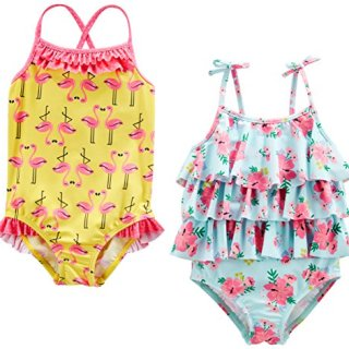 Simple Joys by Carter's Baby Girls' 2-Pack One-Piece Swimsuits