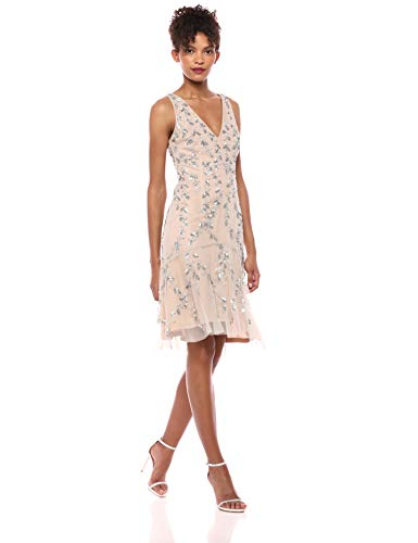 Adrianna Papell Women's Short Beaded Dress