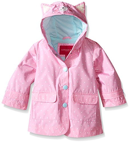 London Fog Baby Girls' Enhanced Radiance Kitty Cat Rain Slicker