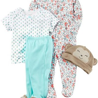 Carter's Girls' Multi-pc Sets, Mint, Newborn Baby