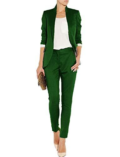 Women's Slim 2 Piece Suits Lady Blazer Pants & Jacket Suits