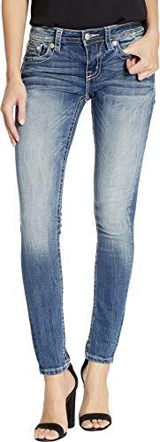 Miss Me Women's Feather Arrow Skinny Jeans in Medium Blue
