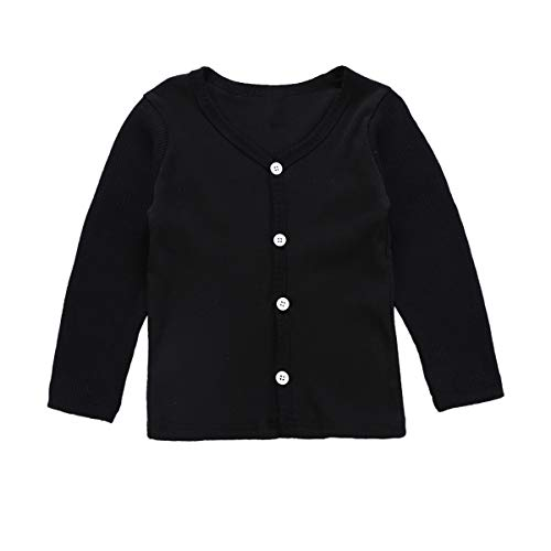 1-6T Boys Girls Cardigan Knitted Sweaters Long Sleeve