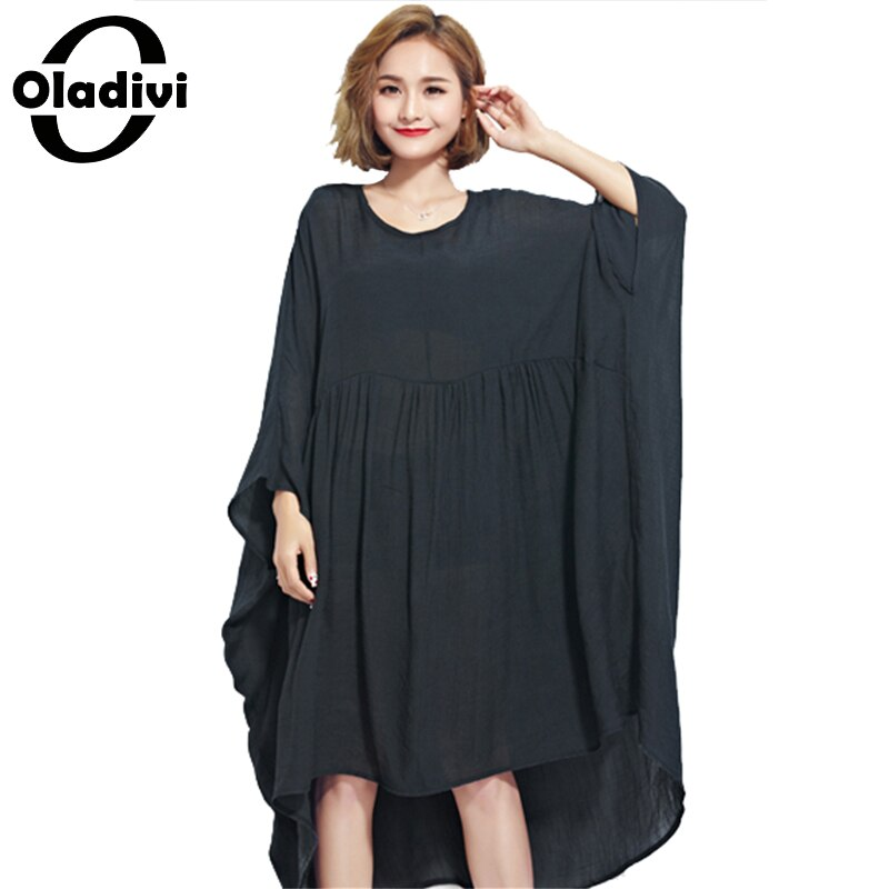 Oladivi Oversized Dress for Women Chiffon Shirts Plus Size