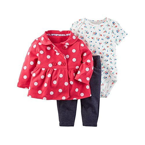 Carter's Baby Girls' 3 Piece Little Jacket Set 9 Months