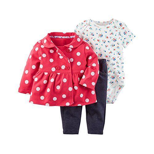 Carter's Baby Girls' 3 Piece Little Jacket Set 9 Months
