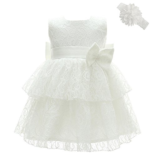 Coozy Baby Girl Dress Christening Baptism Gowns Infant Girl Party Wedding Dress