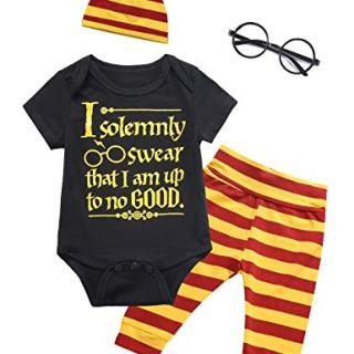 Baby Boys Girls Layette Clothing Set Funny Romper Pants