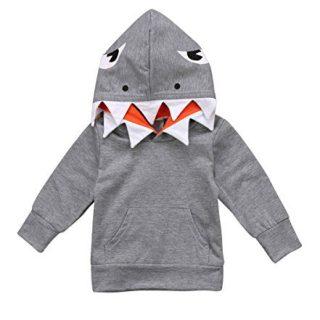 Unisex Baby Autumn Winter Shark Hooded Sweatshirt Infant Boys Girls Hoodies