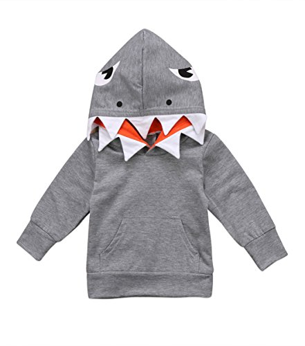 Unisex Baby Autumn Winter Shark Hooded Sweatshirt Infant Boys Girls Hoodies