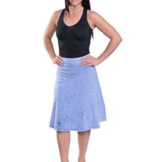 hardtail Circle Circle Skirt (L, Light Blue Denim)